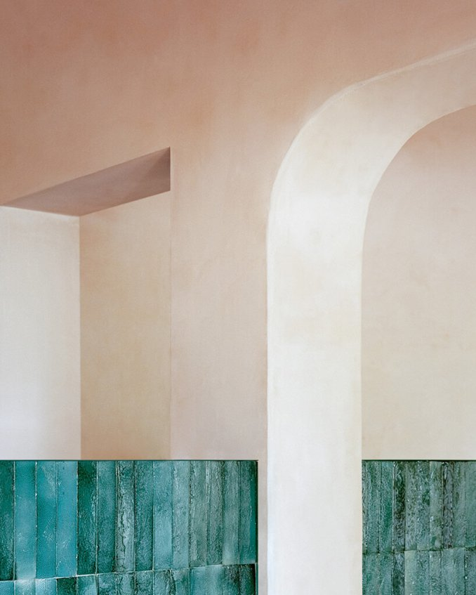 empty spaces + earthy tones give shape to 'myrto' restaurant by studio wok in porto cervo, italy