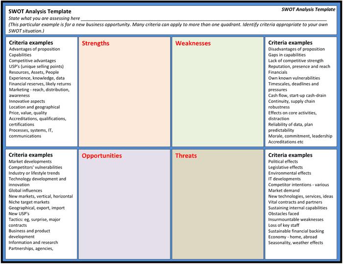 Swot Report Template. professional development plan free word ...