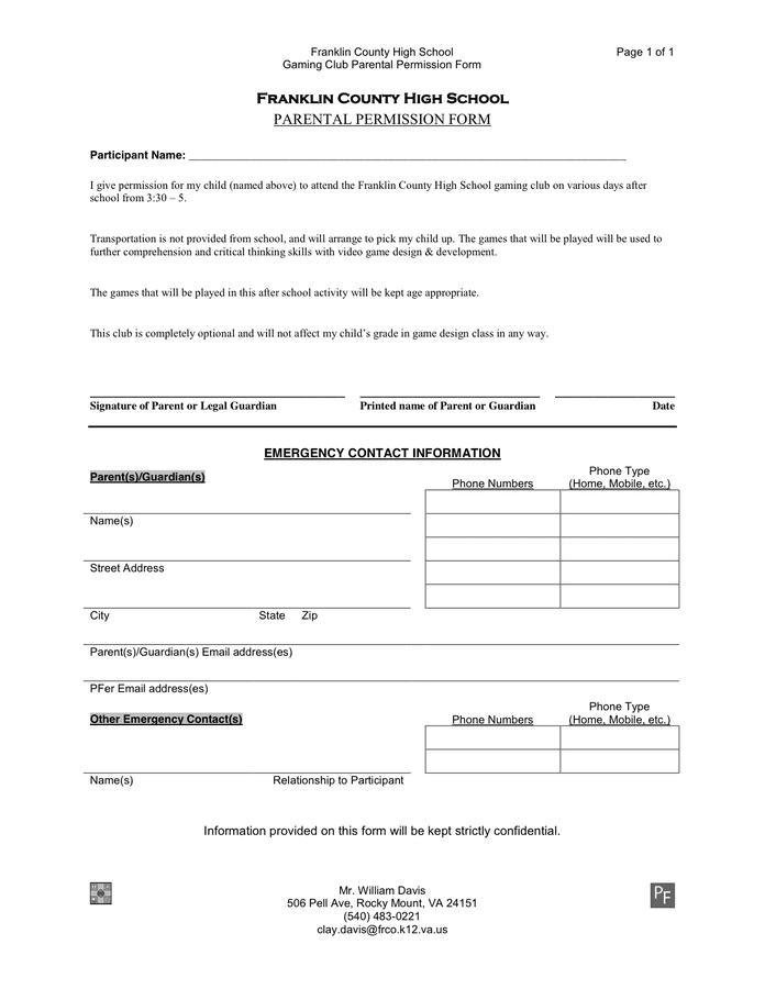 Permission Slips Template school field trip permission slip – Permission Slip Template Word