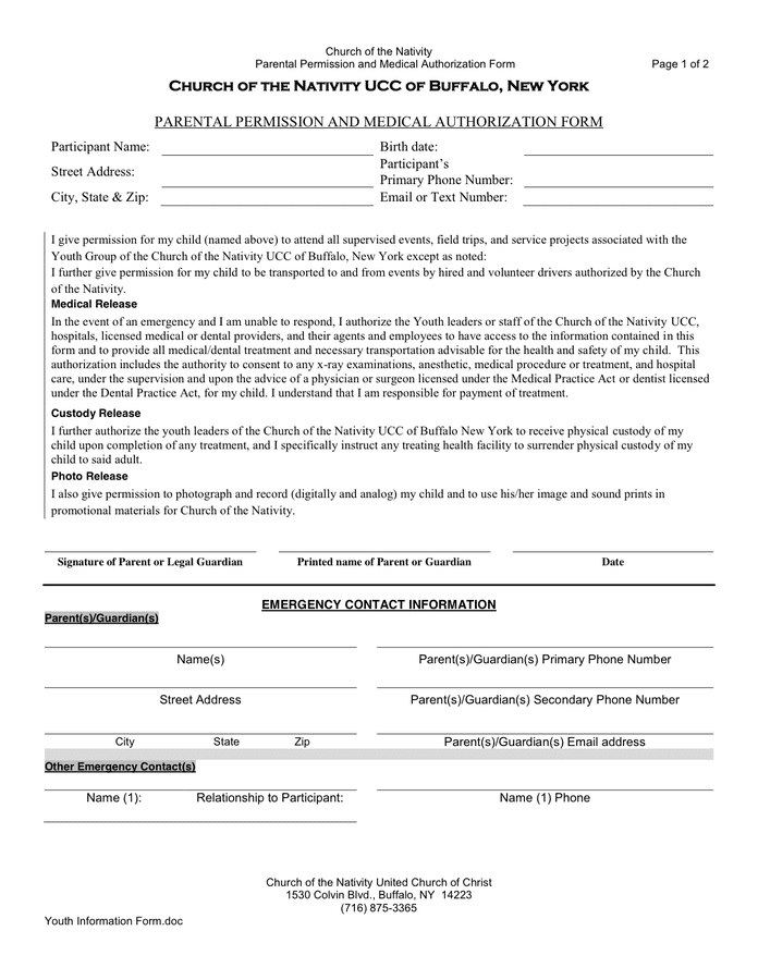 Photo Permission Form Template. Consent Forms Template Consent