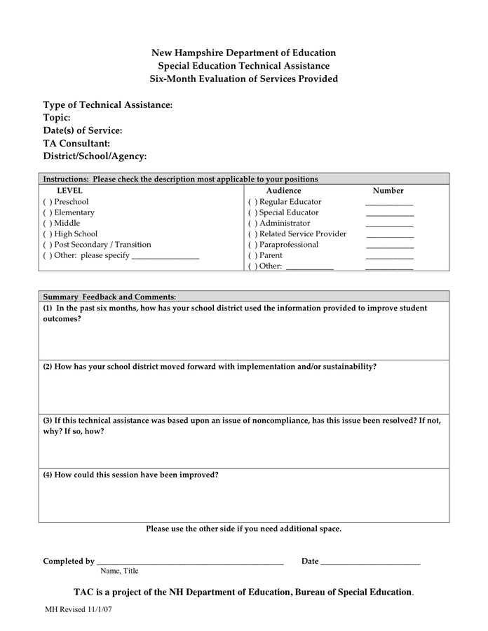 Doc8511192 Audience Feedback Form Doc8511192 Audience – Sample Workshop Evaluation Form