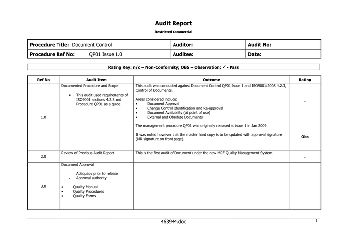 audit report template word it audit report template 15 audit – External Audit Report Template