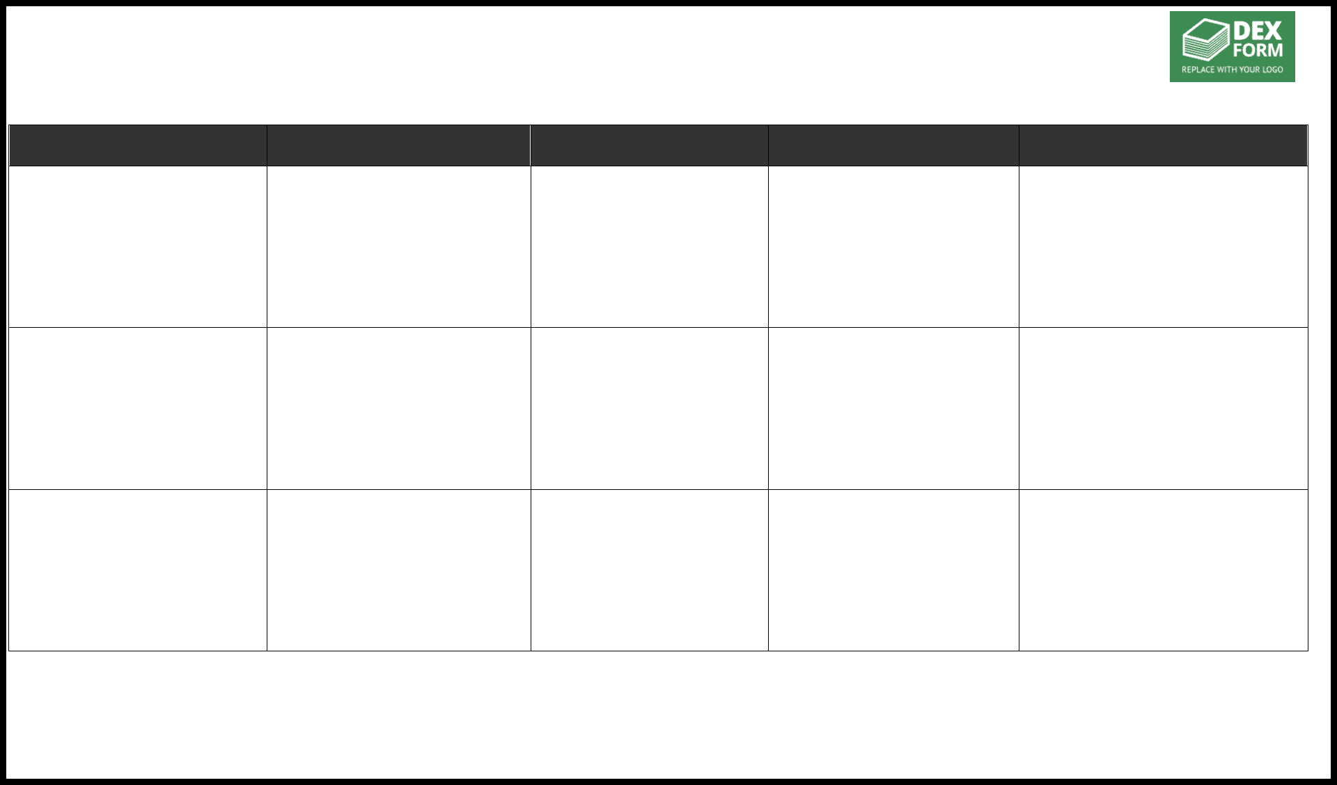 Gapysis Worksheet Template In Word And Formats