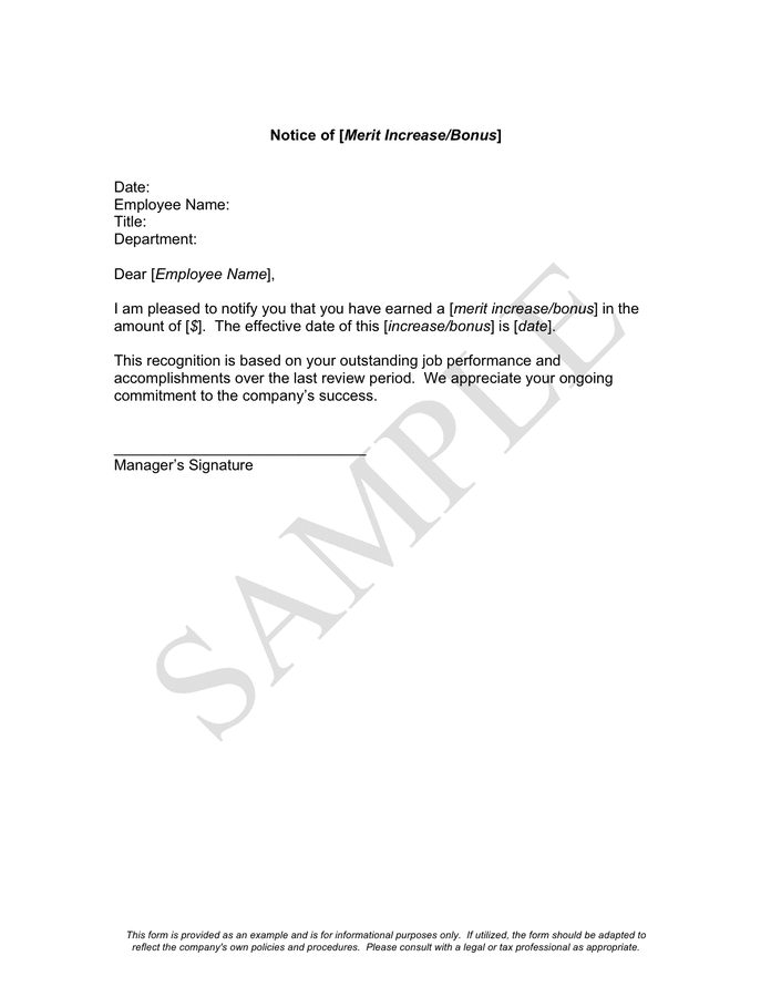 merit increase letter template windenergyinvesting com