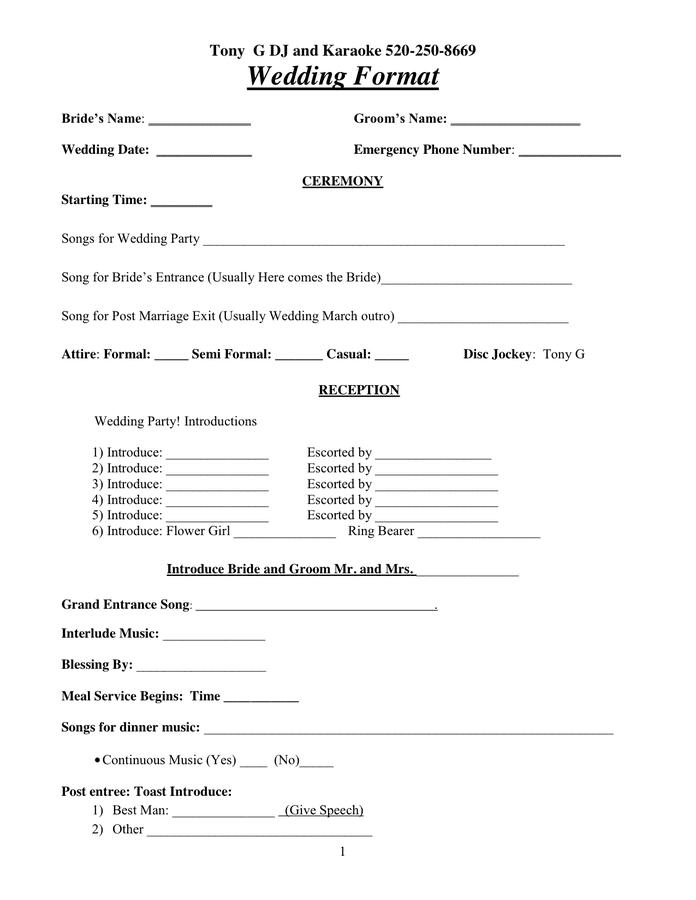 wedding flower checklist template