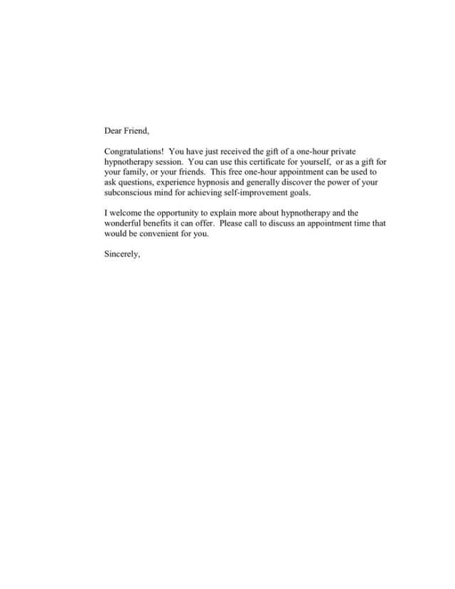 Gift Certificate Er Letter In Word