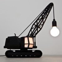 Wrecking Ball Lamp and Crane Lamp