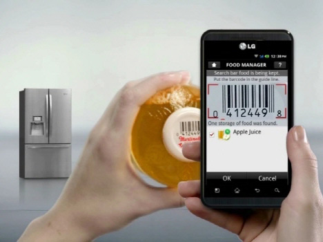 Technology and design: Smart Manager Fridge by LG