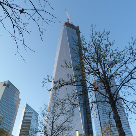 One World Trade Center tops out, photo by Placeboe