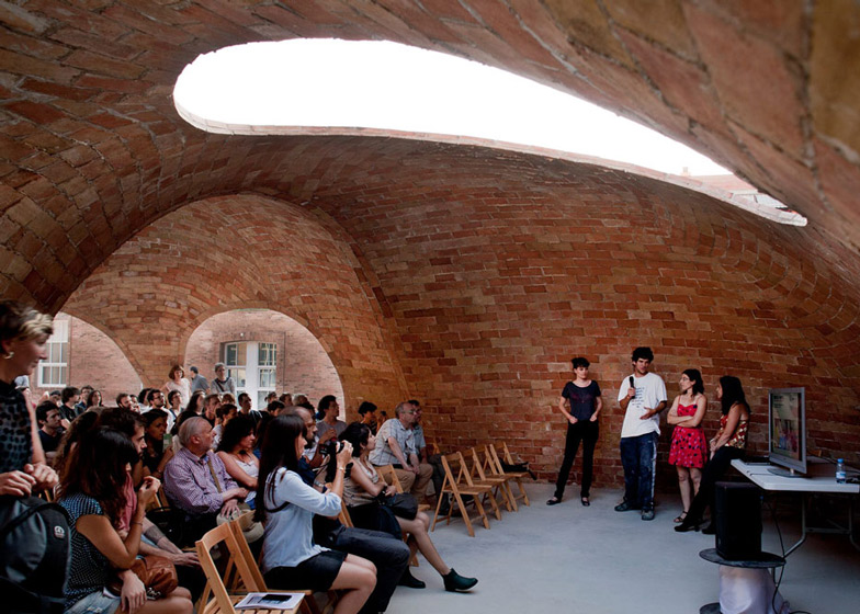 Vaulted brick pavilion in Barcelona by Map13 Dezeen Magazine