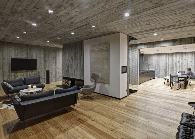 Polish House With Wood-Textured Concrete Interior