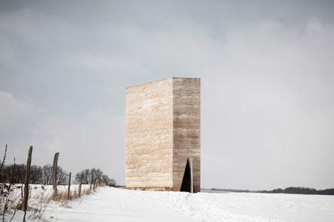 Exterior: Bruder Klaus Field Chapel by Peter Zumthor - photographed by Tim Van de Velde