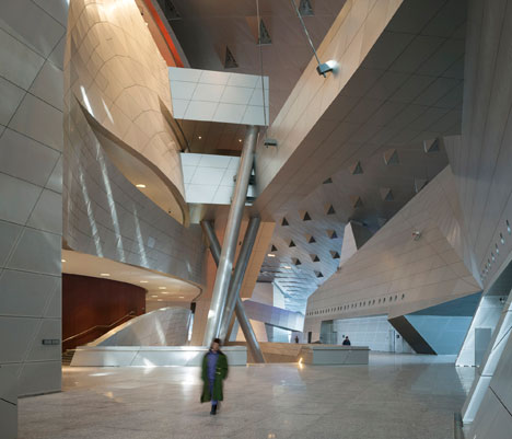 Interior: Dalian Congress Centre by Coop Himmelb(l)au photographed by Duccio Malagamba