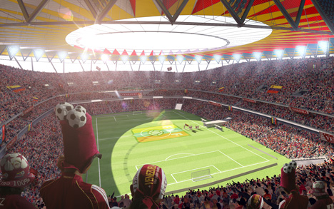 First football stadium by Rogers Stirk Harbour + Partners plannned for Venezuela
