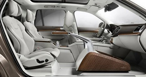 Volvo unveils luxury car interior concept with extra legroom Volvo Lounge Control
