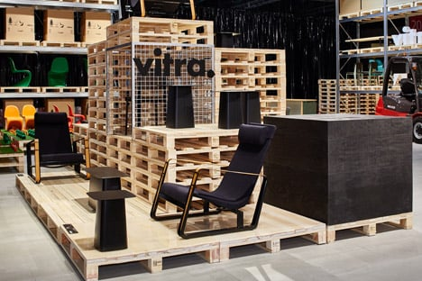 Schemata Make Vitras Salone Stand From Wooden Pallets