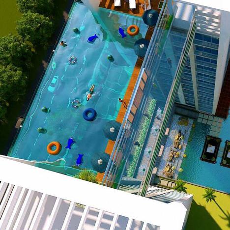 This week plans for vertigo inducing swimming pools in for Pool design london