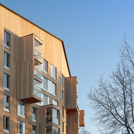 Puukuokka apartment building by OOPEAA