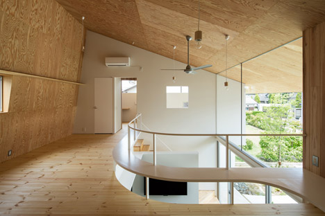 y m design office s shawl house has a roof that shelters tea room