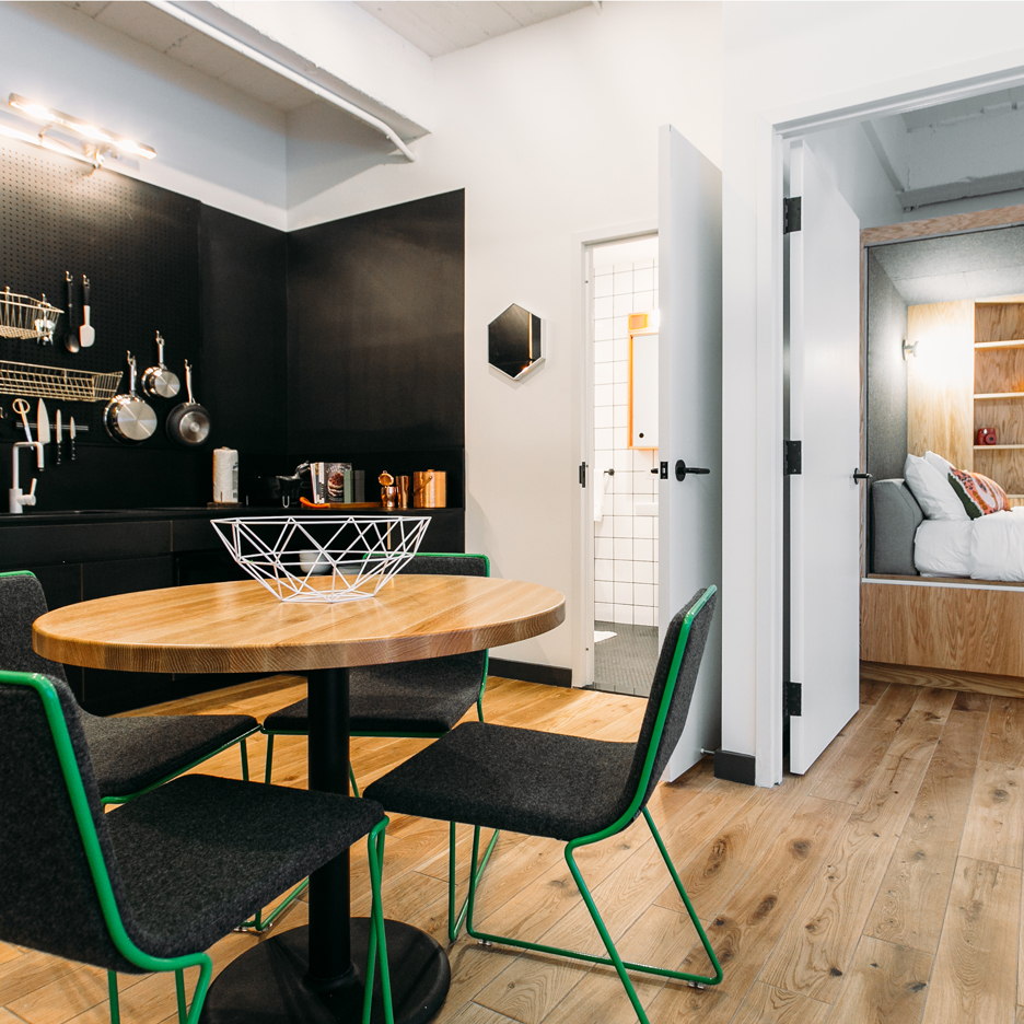 Co-living New York residential block by WeLive