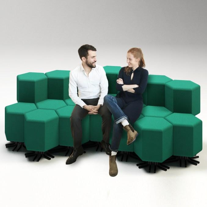 Lift-bit sofa by Carlo Ratti