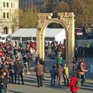 Syrian archway in Trafalgar Square