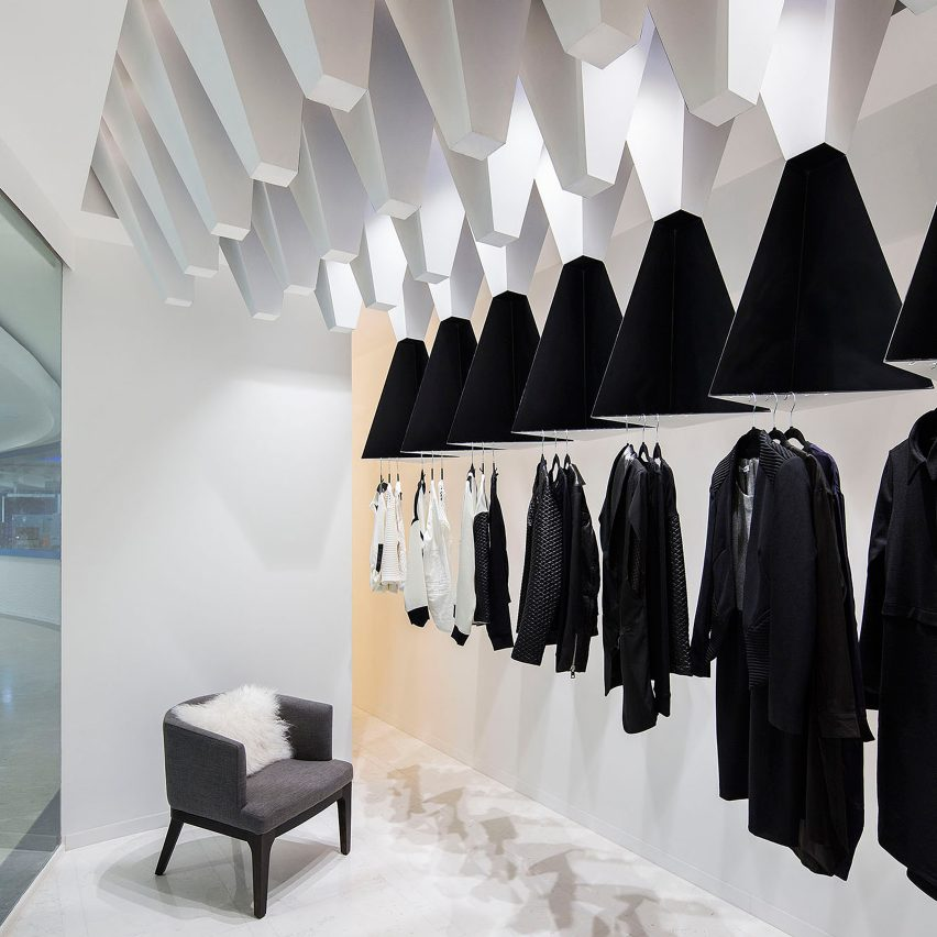 10 of the best fashion boutiques from Dezeen s Pinterest boards melange store massive order fashion boutiques pinterest dezeen