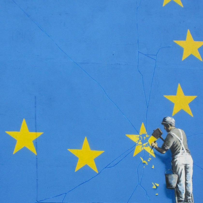 Banksy Brexit wall mural in Dover