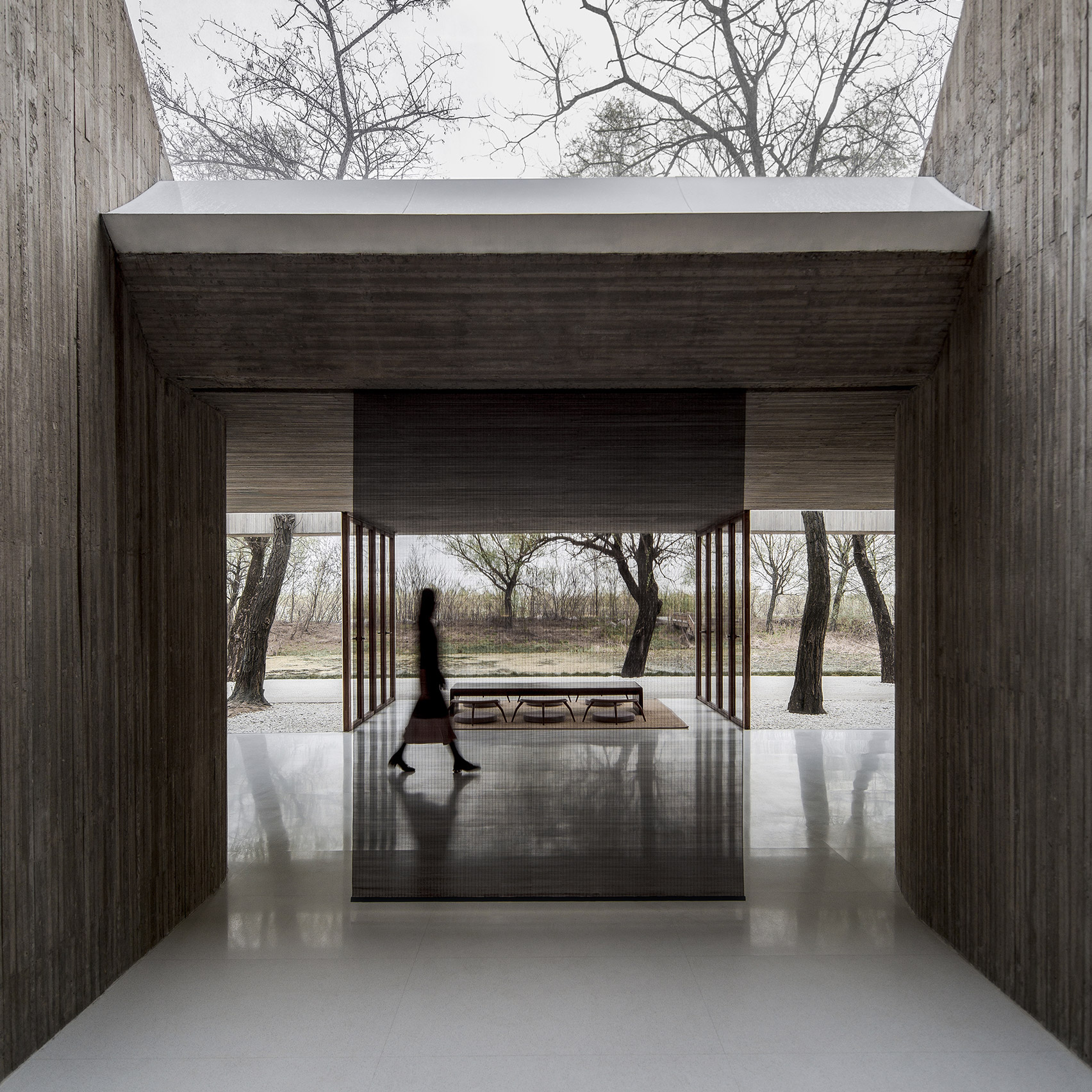 Waterside Buddist Shrine by Archstudio