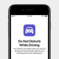 Apple Do Not Disturb while driving feature