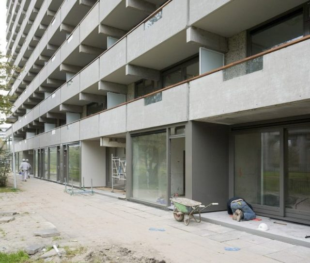 The Refurbished Kleiburg Apartment Block In Amsterdam Has Become The Most High Profile Example Of Diy Flats After The Project Won The Mies Van Der Rohe