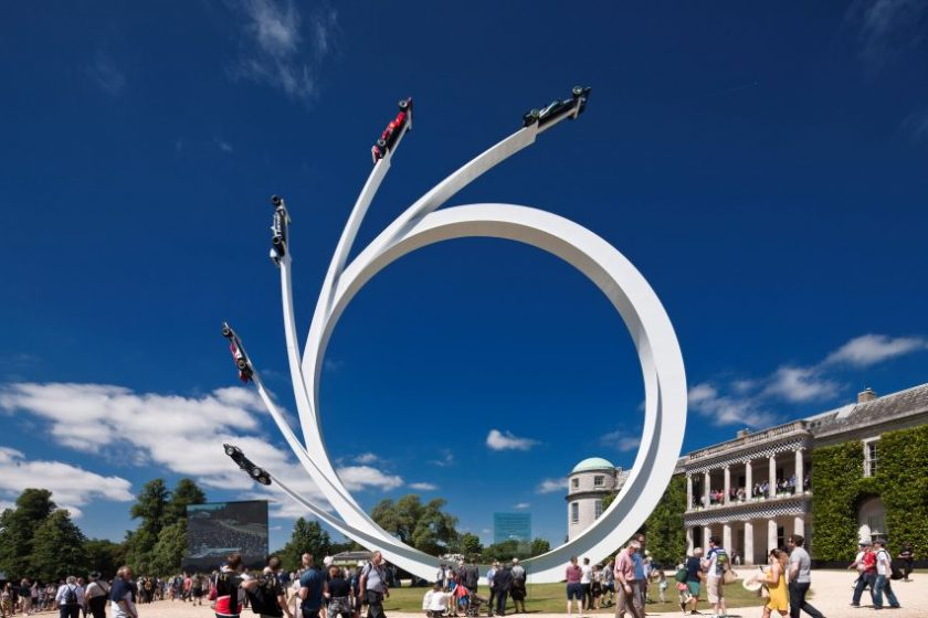 Goodwood 2017 sculpture by Gerry Judah