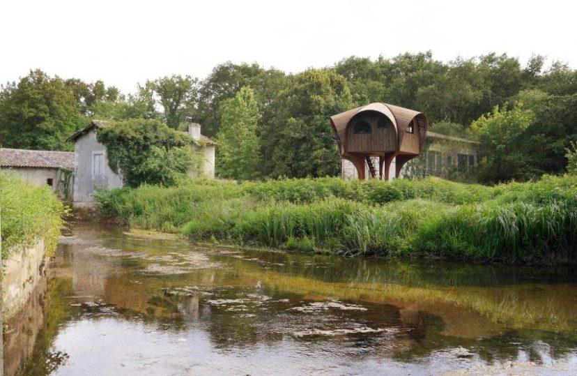 Studio Weave design a hiking shelter called Le Haut Perché