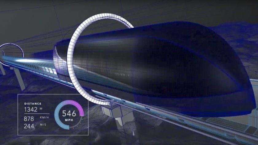 Hyperloop design levitated high speed passenger pod