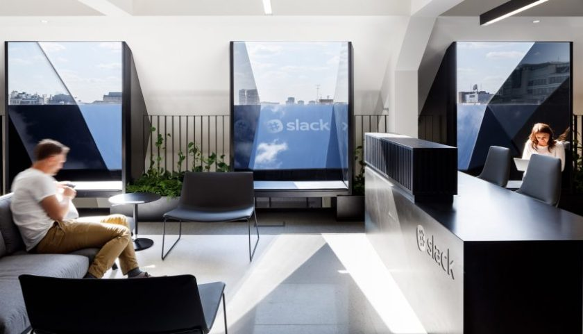 ODOS Architects Designs Monochrome London Office For Slack Instant Custom London Office Design