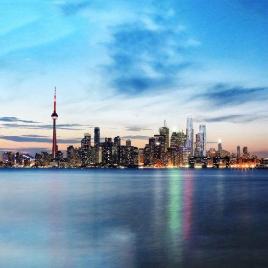 Pinnacle One Yonge development on Toronto skyline