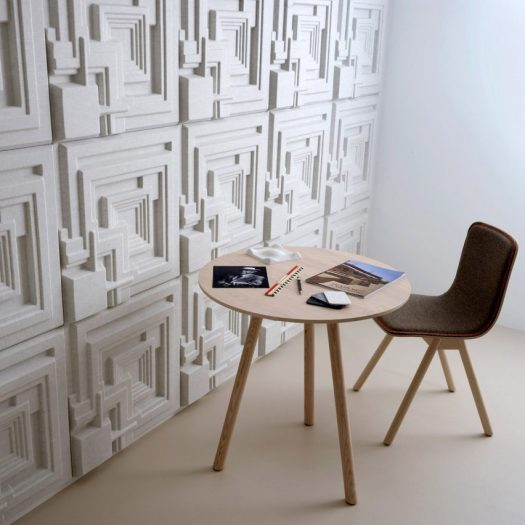 Ennis tiles by Offecct, based on designs by Frank Lloyd Wright.