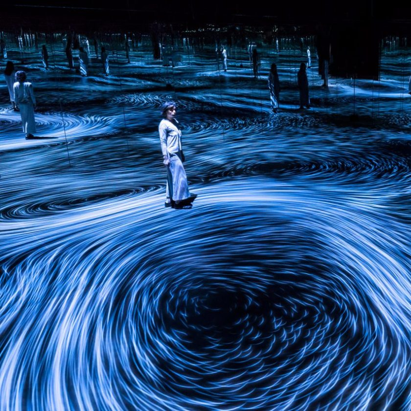 Dezeen's top 10 installations of 2018: Moving Creates Vorticles Create Movement, Australia, by TeamLab