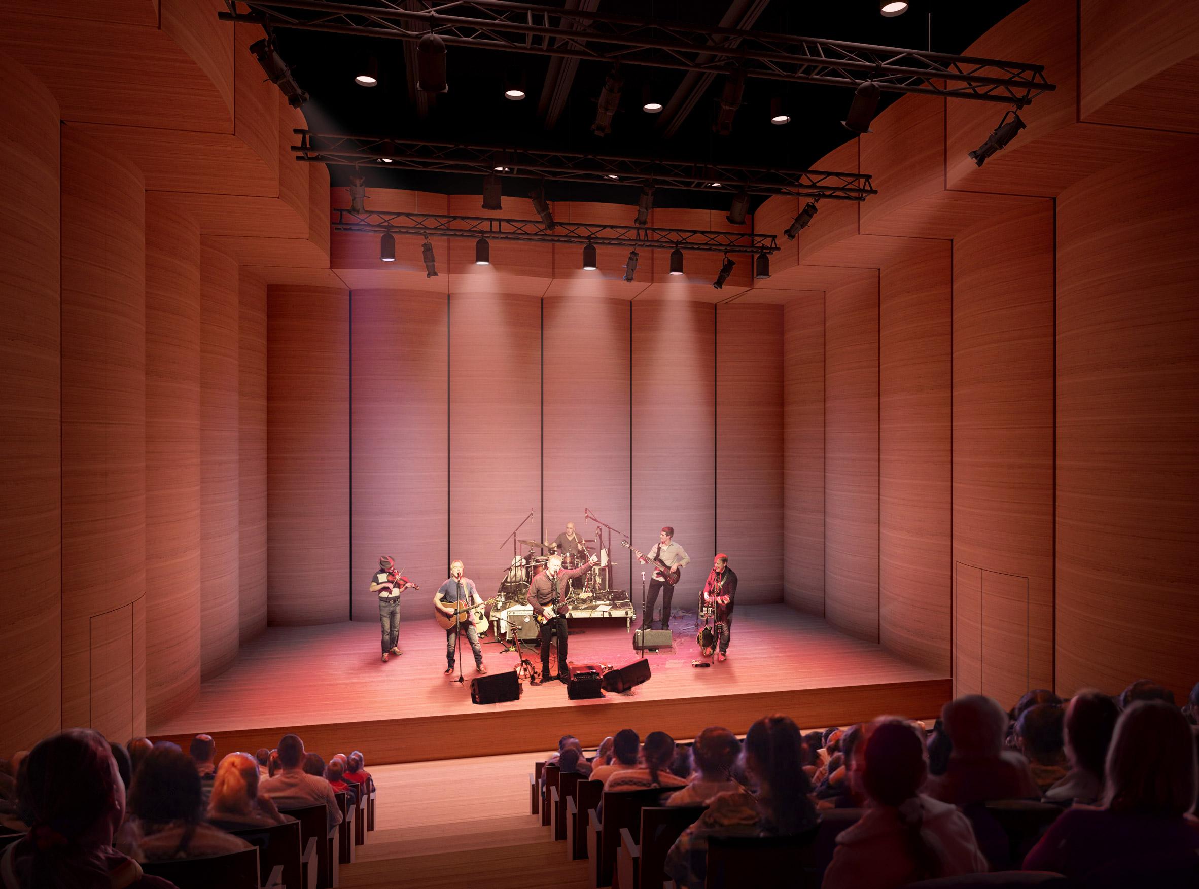 David Chipperfield reveals visuals of new Edinburgh concert hall