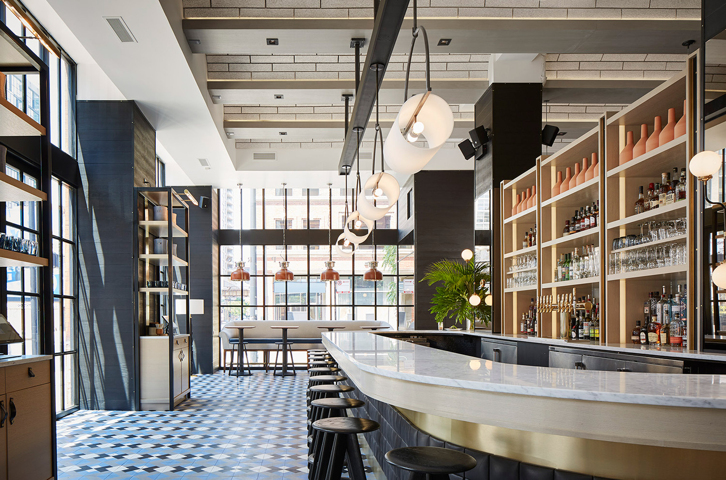 The Proxi restaurant occupies formerprinting housein Chicago