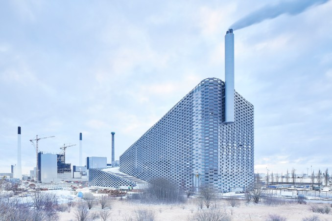 SLA have unveiled plans for a ski slope atop BIG's Amager Bakke Waste-To-Energy Plant