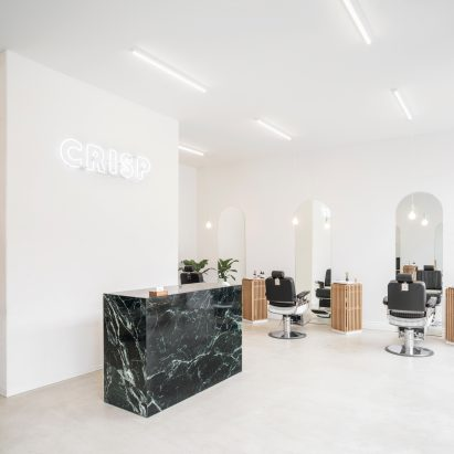 Salon and spa interior design   Dezeen Ivy Studio uses simple furnishings to create a  barbershop unlike all  others  in Montreal