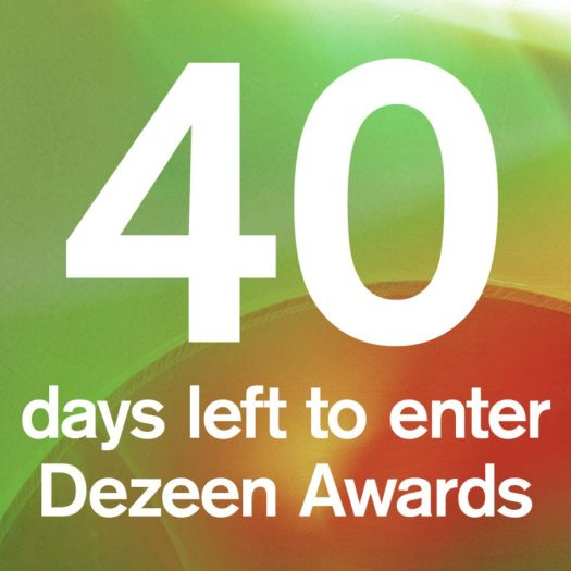 Dezeen Awards 40 days to go