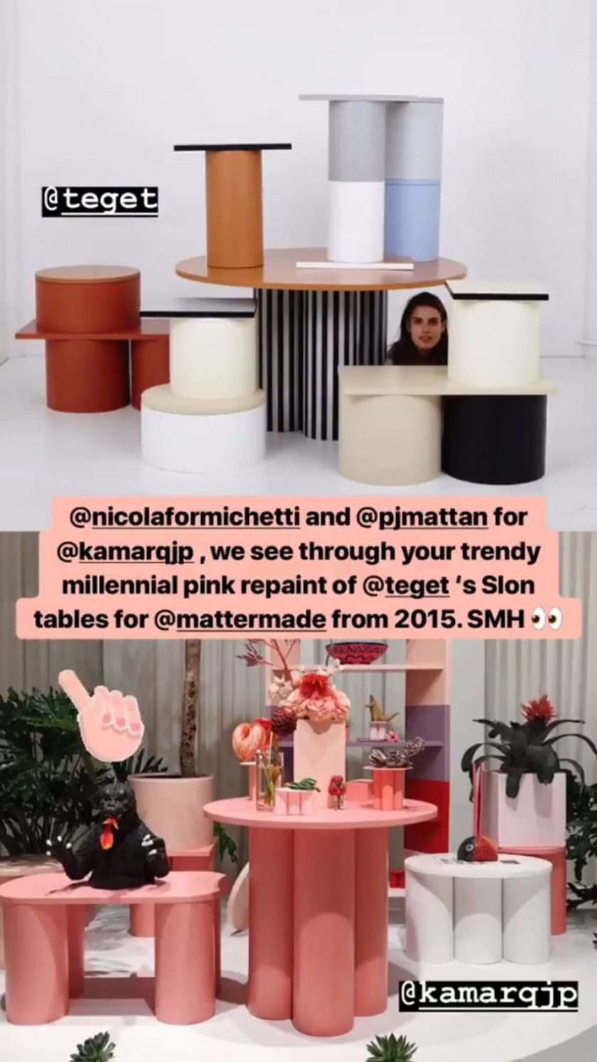 Diet Prada's plagiarism accusation, published on Instagram