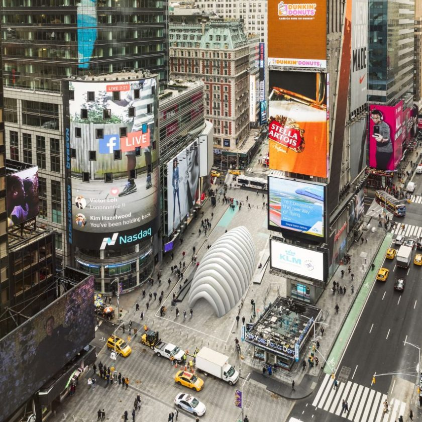 Inflate pavilion in Times Square render