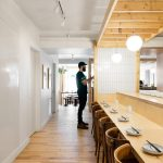 Japanese Restaurant Combines Minimal Details And Unfinished Surfaces