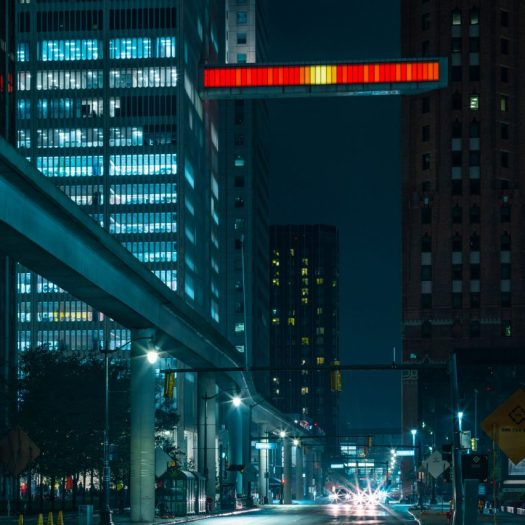 Detroit Skybridge by Phillip K Smith III