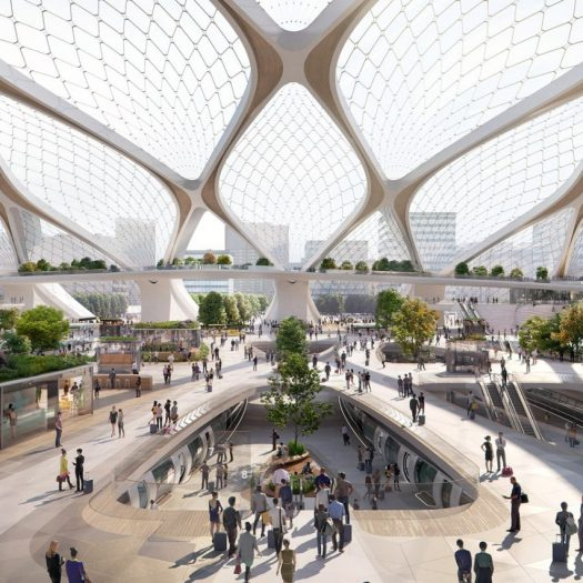 UNStudio unveils modular hyperloop station concept