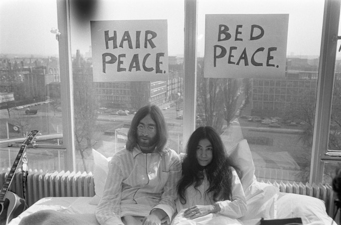 John Lennon and Yoko On