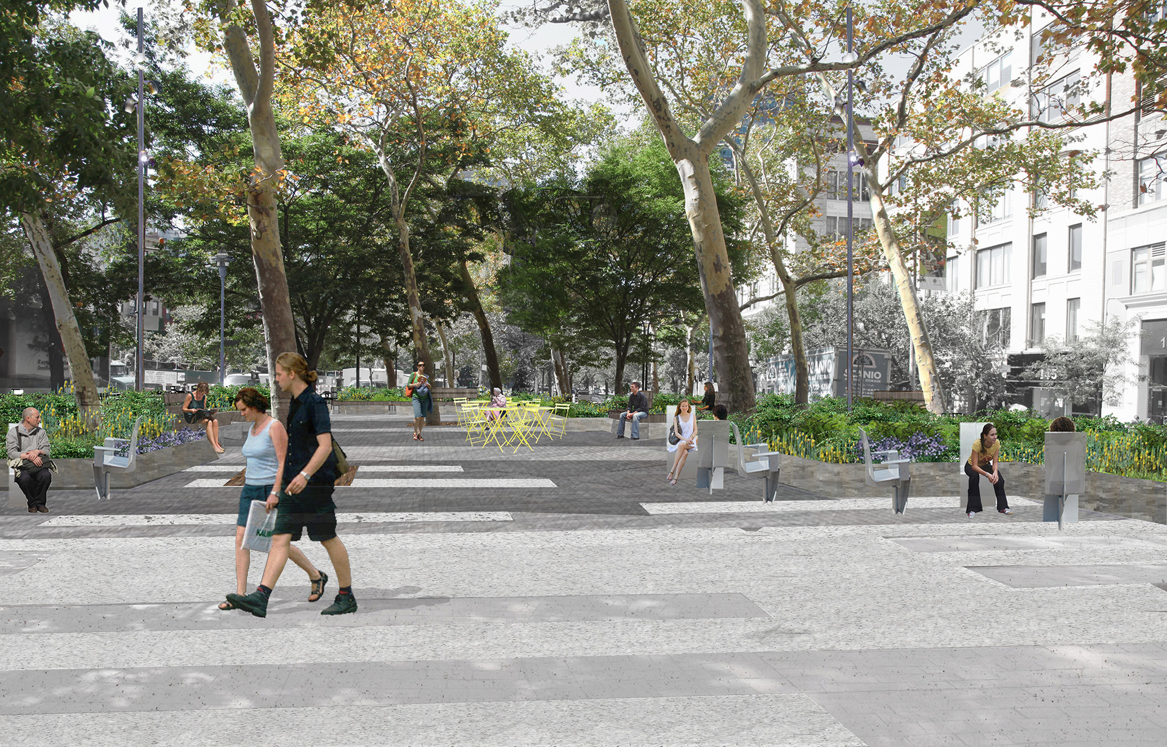 Spring Street Park by Mathews Nielsen Landscape Architects